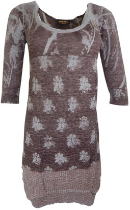 Diesel Black Gold Brown Wool Dress for Women