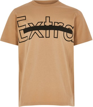River Island Boys Beige - Medium OB Extra Multibuy Tshirt