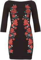 Izabel London Floral Embroidered Bardot Dress