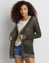 American Eagle Outfitters AE Tipped Mesh Cardigan