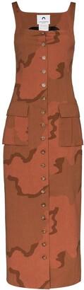 Marine Serre Regenerated military tailored dress