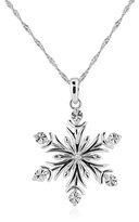 Zales Diamond Accent Snowflake Pendant in Sterling Silver