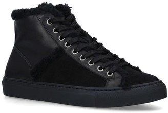 Yves Salomon Shearling High-Top Sneakers