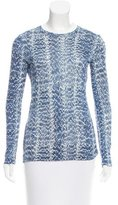 Derek Lam Printed Long Sleeve Top