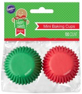 Wilton 100ct Mini Baking Cups - Red and Green