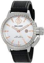 Trafalgar Ballast Men's BL-3131-02 Machined Analog Display Swiss Quartz Black Watch