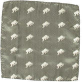 Paul Smith Silk Elephant Patterned Pocket Square