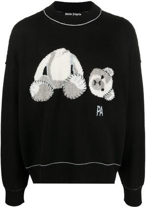 Palm Angels Bear fringed-detail jumper