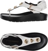 CAFe'NOIR Toe strap sandals