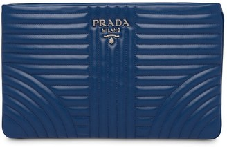 Prada Diagramme leather clutch