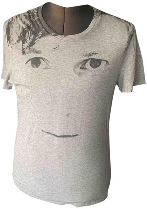 Alexander McQueen Grey Cotton T-shirts
