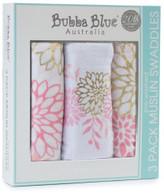 Bubba Blue Bubba Blue Flamingo Muslin Wraps 3 Pack
