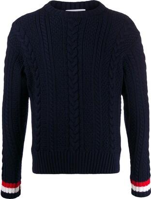 Thom Browne Aran cable knit jumper