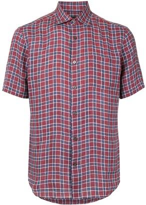 Durban Check Print Short-Sleeved Shirt