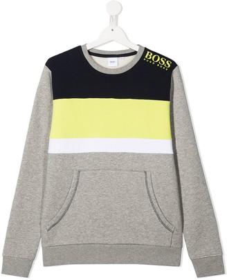 Boss Kidswear TEEN colour-block sweatshirt