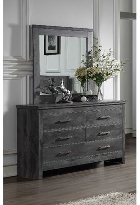 Foundry Select Diggs 6 Drawer Double Dresser with Mirror