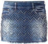 Philipp Plein 'Actinidia' denim mini skirt