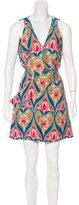 Prada Floral Print Mini Dress