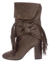 Aquazzura Fringe-Accented Suede Boots