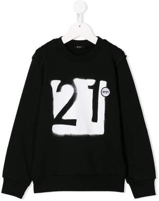 No.21 Kids graffiti logo sweatshirt