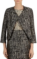 Gerard Darel Jersey Abstract Print Jacket