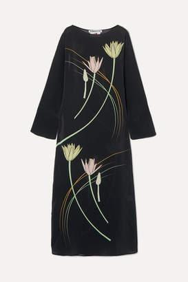 Bernadette BERNADETTE - Floral-print Silk Crepe De Chine Maxi Dress - Brown