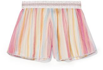 Missoni Mare Striped Metallic Crochet-knit Shorts