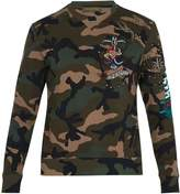 Valentino Tattoo-embroidered camouflage-print sweatshirt