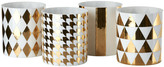 Pols Potten Light Gold Refined Tealight Holder - Set of 4 - Large