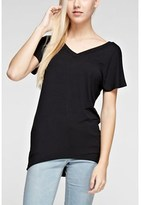 B-Sharp Collection Women's Solid Tunic Top Short Sleeve V-neck Tanboocel Bamboo Top.