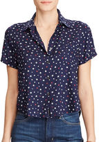 Denim & Supply Ralph Lauren Cropped Button-Down Shirt
