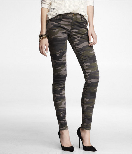 Express Stretch Cotton Five Pocket Legging - Camouflage