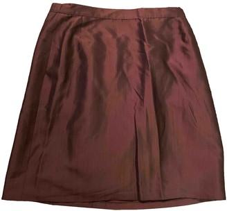 Genny Camel Silk Skirt for Women Vintage