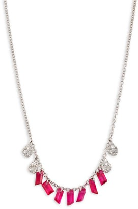 Meira T Diamond & Ruby Necklace