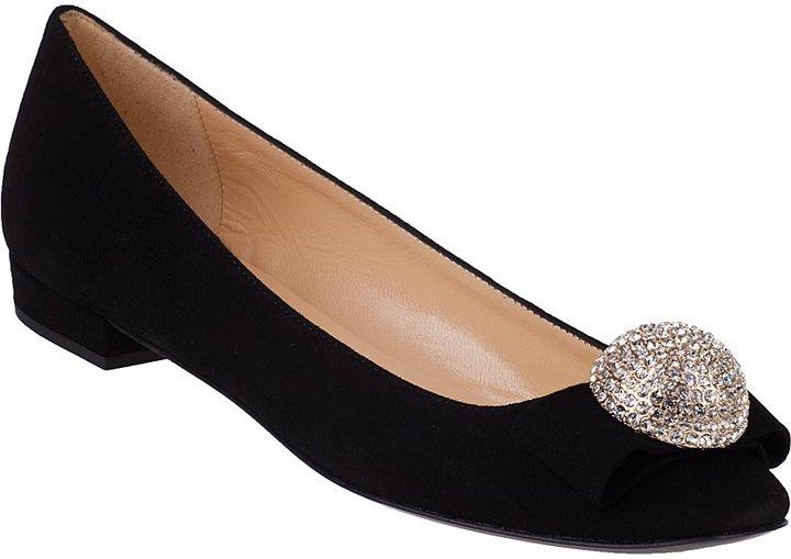 Kate Spade Nadira Ballet Flat Black Suede