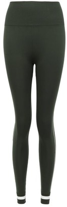 The Upside Freedom Side-stripe Stretch-jersey Leggings - Womens - Dark Green
