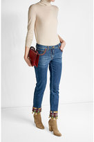 Etro Slim Jeans with Embroidery and Tassels