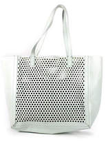 Loeffler Randall Mint Green Leather Perforated Open Tote Bag New $395 90044000