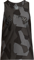The Upside Geo camouflage-print performance tank top
