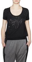 Elie Tahari Esmerelda Embellished Scoop T-Shirt