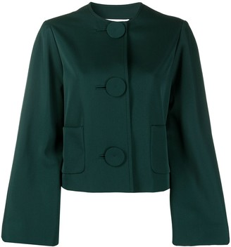 Lanvin Cropped Bell Sleeve Jacket