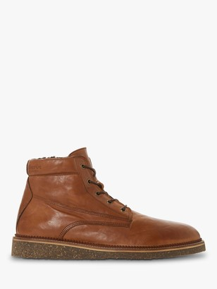 Bertie Carstairs Borg Lined Leather Boots, Tan