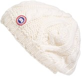 Canada Goose Women's Cable Knit Merino Wool Beanie - White