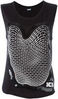 Kokon To Zai brick print tank top - women - Rayon - L