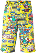 Moschino printed knee length shorts - men - Polyester - S