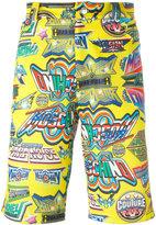 Moschino printed knee length shorts
