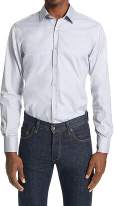 Canali Slim Fit Solid Button-Up Shirt