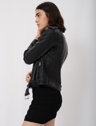 Maje Leather biker jacket and belt