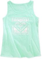 Roxy Cotton Logo Graphic-Print Tank, Big Girls (7-16)