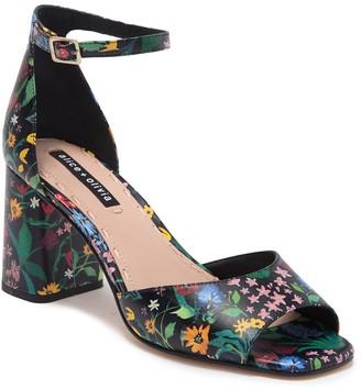 Alice + Olivia Cooper Chelsea Wildflower Block Heel Sandal